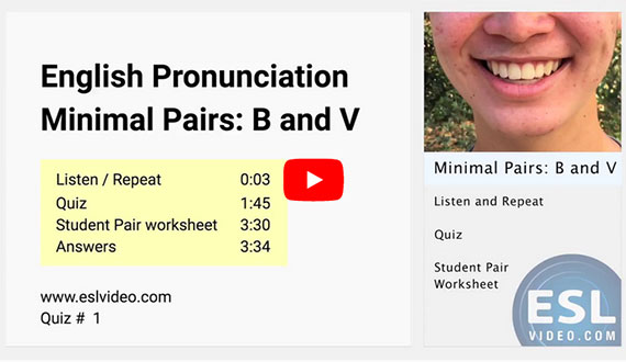 English Pronunciation - Minimal Pairs: B and V