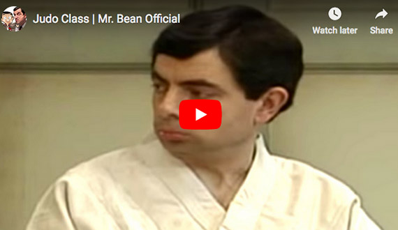 Mr. Bean goes to Judo class