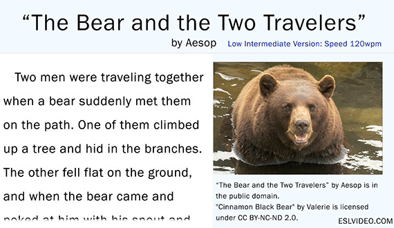Aesop: The Bear And The Two Travelers - 120